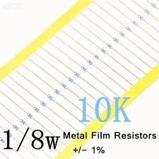 Kit De Resistores De 120r E 10k 1% 1/8w Para Fontes Proteus