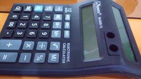 Calculadora Duplo Visor/tela, 12dig, Ideal Para O Comércio
