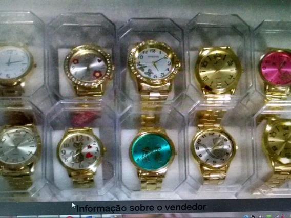 Kit C/10 Relogios Fem/prata/rose/ Dourado Com Caixas Atacado