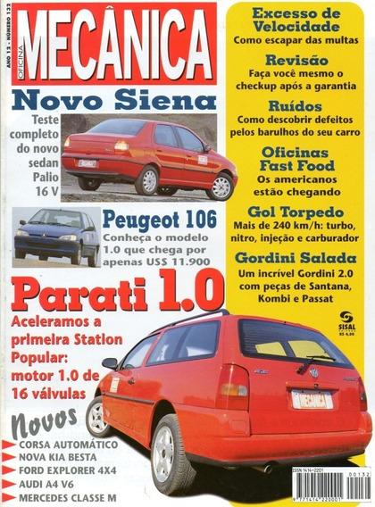 Oficina Mecânica Nº132 Parati 1.0 16v Siena Peugeot 106 Audi