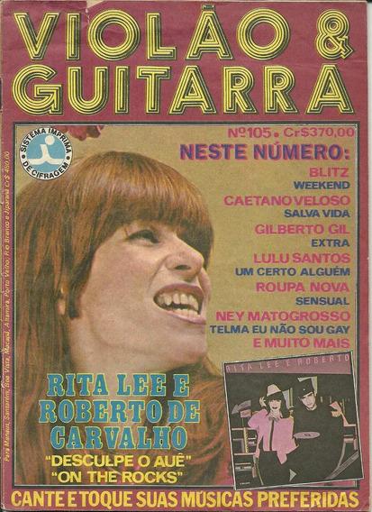 Revista-rita Lee E Roberto -violão E Guitarra Nº 105-rara