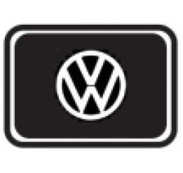 Protetor Fechadura Volkswagen Resinado Preto 2 Unidades