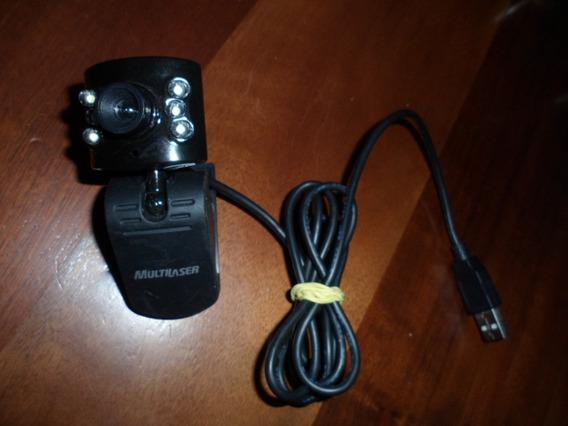 Webcam 1.3mp 6 Leds Plug Play 2.0 Multilaser Frete Grátis