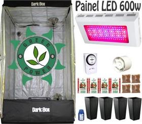 Kit Cultivo Indoor Estufa 100x100x180 Grow Completo Led 600w