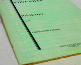 Conductor´s Score Paethon Op 39 - Camille Saint-saens Kalmus