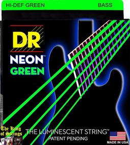 Encordoamento P/ Baixo De 5 Cordas Dr Neon - Verde .40