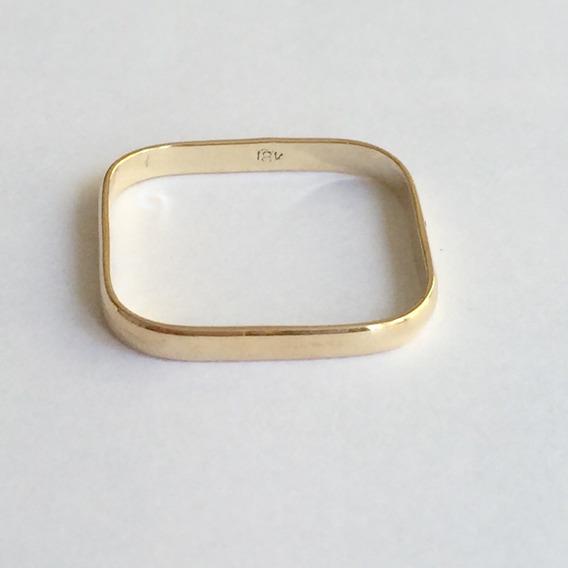 Anel Quadrado Feminino Ouro 18k 750