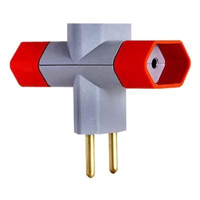 Plug Benjamin 3 Saídas - Kit Com 30 Unidades / Frete Grátis