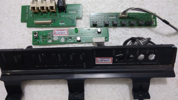 Placa Sensor E Teclado Tv Toshiba Lc240w