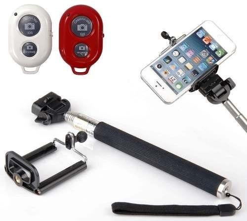 Bastão De Tirar Self Com Celular Controle Bluetooth Monopod