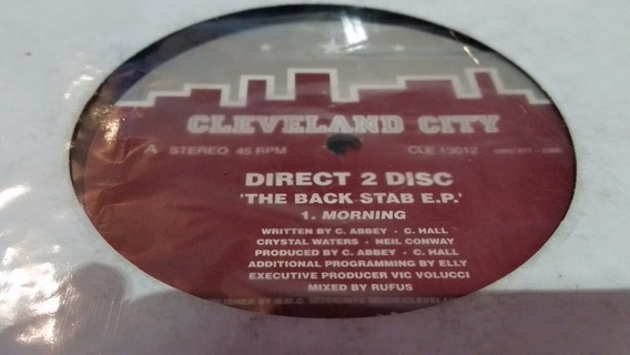 Direct 2 Disc The Back Stab Ep Vinilo Maxi Crystal Waters