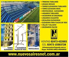 Tribunas Gradas Escenarios Torres Elevadoras Montacargas And