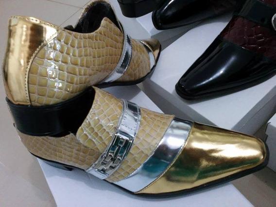 Sapatos De Couro Brilhoso