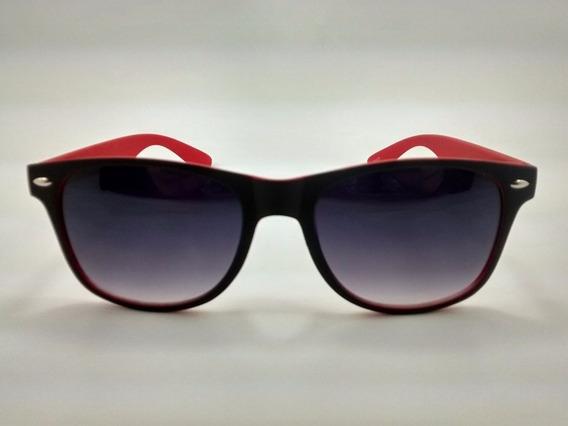 Óculos De Sol Otto - Preto E Vermelho - Ótica Das Lentes