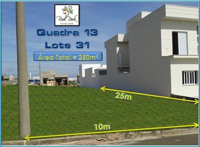 Terreno De 250m2 No Residencial Real Park Sumaré - Honda, 3m