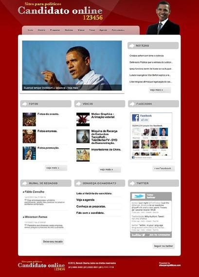 Site Php Para Politicos 2012 Script 100% Administravel Otimo