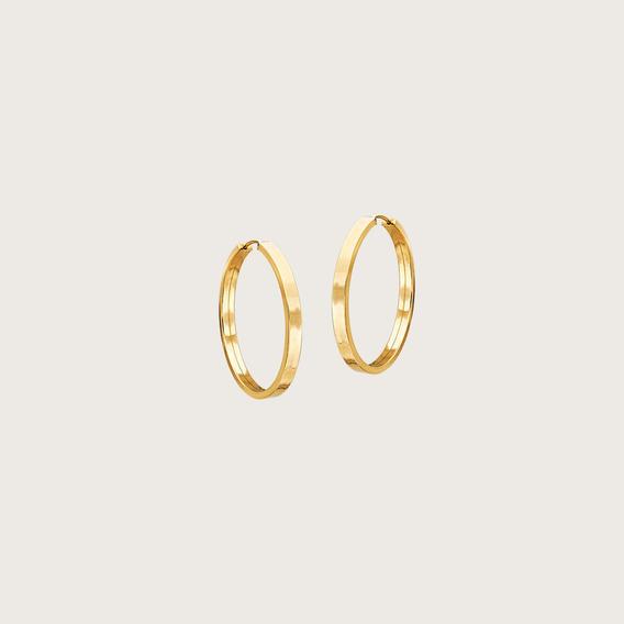 Argola Lulean Redonda Em Ouro 18k (750)