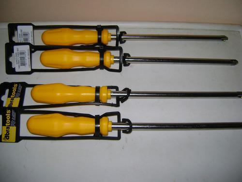 Destornilladores De Estrias  Abratools Medida 3/8x8  Pack 2