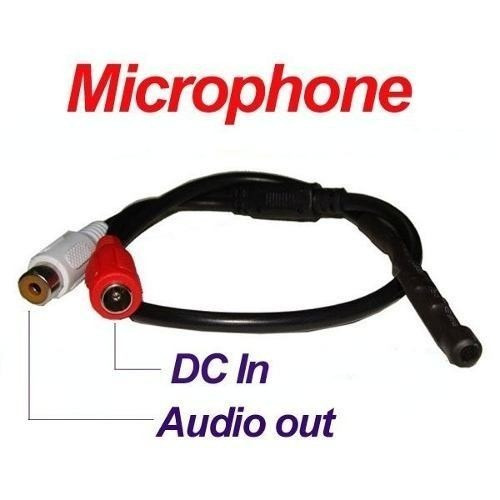 20 Microfone Amplificado Para Câmera De Cftv Dvr Alcance