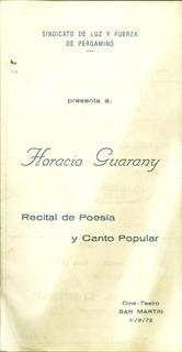Programa Teatro S.martin Pergamino Luz Y Fuerza 1972 Guarany