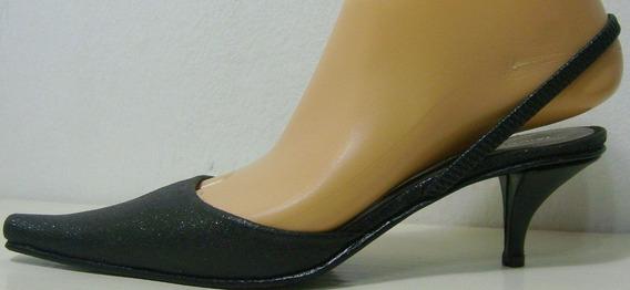 Maggio&rossetto Sandalias 35 Cuero Negro Glitter (ana.mar)