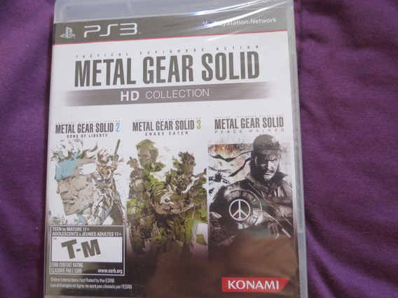 Metal Gear Solid Hd Collection Sony Playstation 3 Ps3 Konami