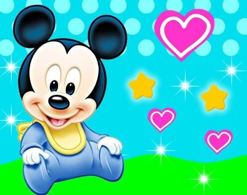 Kit Festa Provencal Mickey Baby Arte Cartoes Convites 00