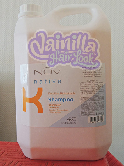 Shampoo Nov Native Keratina Hidrolizada X 3900ml