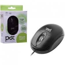 Xco Mouse Pisc Preto Simples Usb