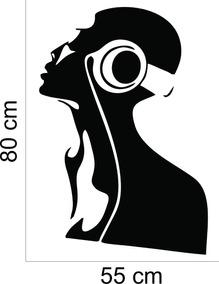 Adesivo Decorativo Parede Dança Música Fone De Ouvido Music