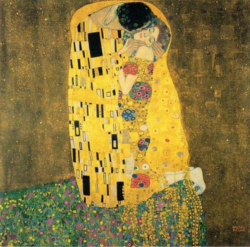 Gravura Poster G Klimt 65x65cm Kiss Obra De Arte O Beijo
