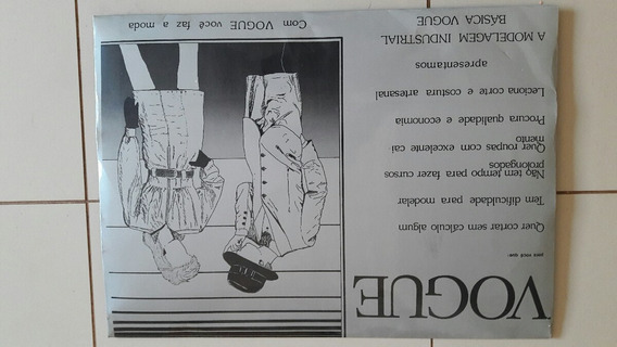 Raro016 - Catálogo Vogue Antigo Sem Uso Na Caixa Raridade