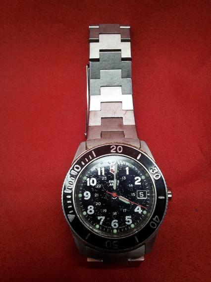 Relógio Masculino Swiss Army / Day Date Em Aço