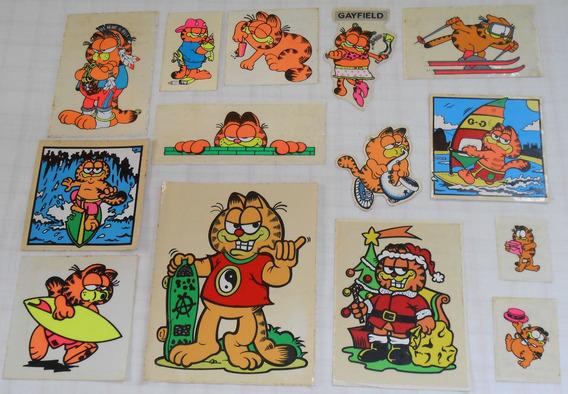 Garfield Lote C/14 Adesivos De Banca Anos 90 Muito Populares