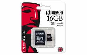 Cartão Micro Sd Kingston 16gb + Adaptador - Class 10 45mb/s