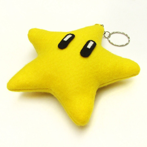 Chaveiro - Lembrancinha Estrela Super Mario Bros
