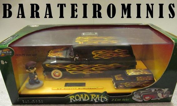 1:24 Jada Chevy Suburban 57 + 1:64 + Boneco 1:24 Road Rats