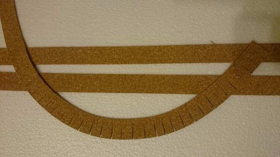Cortiça 3mm Para Trilhos - Maquete Escala Ho 6metros