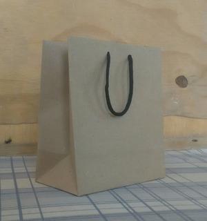 Bolsa Papel Kraft Marrón Para Tienda Regalos Nº3 - Pack