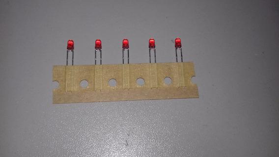 Lote Com 5 Led Fosco Vermelho 3mm