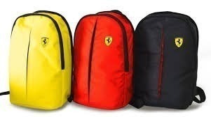 Mochila Ferrari Shell Oficial De Costas