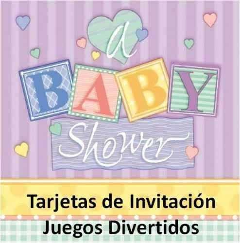 Kit Imprimible Tarjetas Invitacion Juegos Para Baby Shower