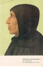 Cartão Postal Religioso Italiano Sirolano Savanarola Firenzi