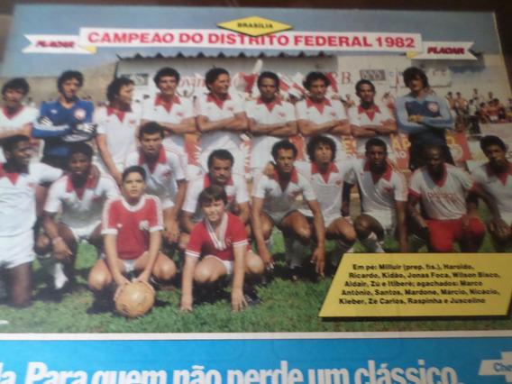 Poster Brasilia Campeão Distrito Federal 1982 Placar 21x27cm