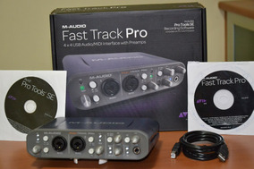 Placa Interface Fast Track Pro M Audio 4x4 Usb 2.0 Usada
