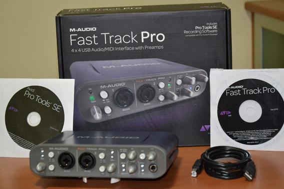 Placa Interface Fast Track Pro M Audio 4x4 Usb 2.0 Usada