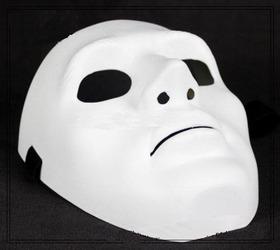 8 Peças Mascara Sem Face Cs Paintball Branca Carnaval