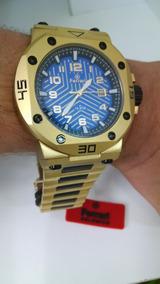 Relógio Ferrari Masc Dourado T12ja52 Original E Barato