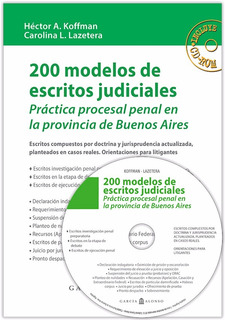 200 Modelos De Escrit. Jud. (penal Pcia Bs As) +cd