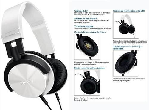 Auriculares Philips Shl3000 1000mw 32mm Cable 1.2m